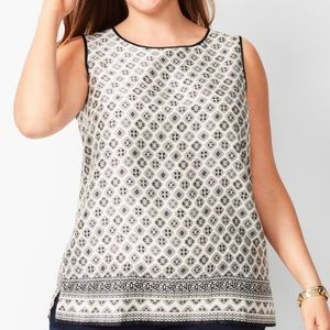 Talbots sleeveless blouse